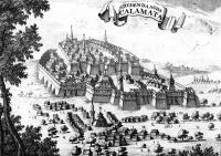 Το κάστρο της Καλαμάτας στα τέλη του 17ου αι., σε σχέδιο του Ολλανδού O. Dapper