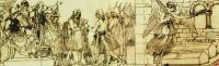 Εθνική Συνέλευση στην Καλαμάτα - Η δόξα του δολοφονημένου Πατριάρχη Γρηγορία του Ε΄, έργο του Leo von Schwandhaller (Μουσείο της πόλης του Μονάχου)